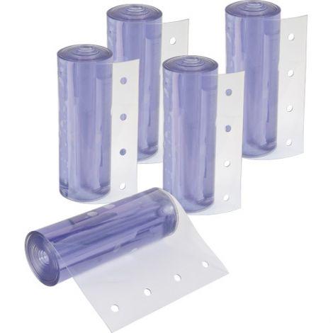 "Strip Curtain Doors - Strip Width: 8"" - Strip Thickness: 0.080"" - Case/Qty: 2 (10 Strips)"