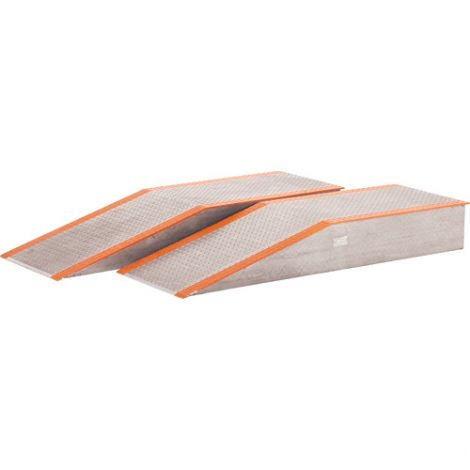 """Aluminum Wheel Risers - Overall Height: 12"""" - Overall Width: 24"""" - Deck Length: 48"""""""