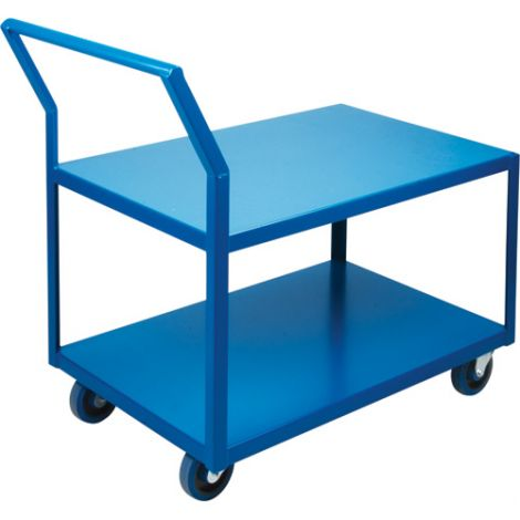 "Heavy-Duty Low Profile Shop Carts - Shelf Size: 18""W x 30""D"