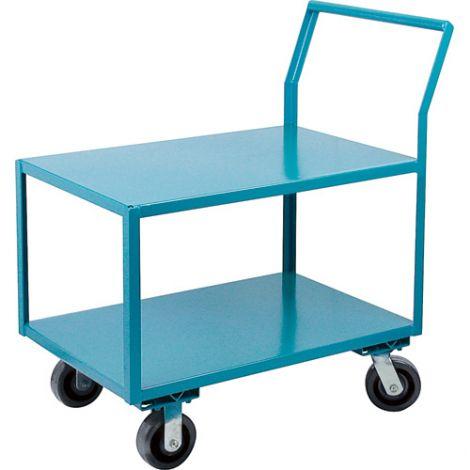 """Heavy-Duty Low Profile Shop Carts - Shelf Size: 18""""W x 30""""D"""