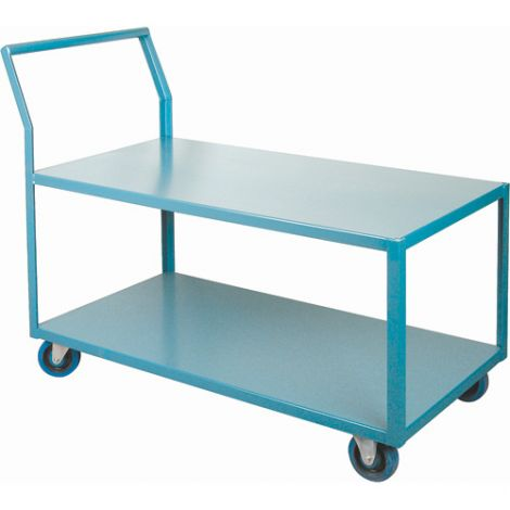 "Heavy-Duty Low Profile Shop Carts - Shelf Size: 24""W x 48""D"