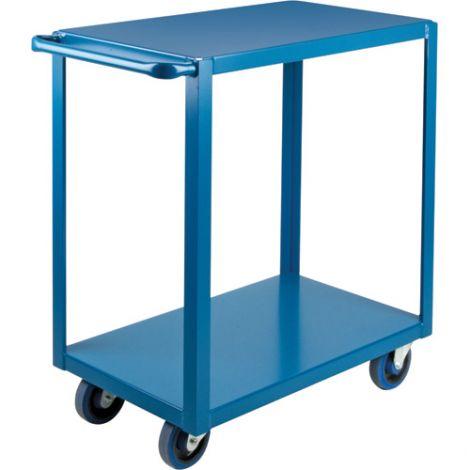 "Heavy-Duty Shelf Carts - 36"" Overall Height - Shelf Size: 18""W x 30""D - No. Shelves: 2"