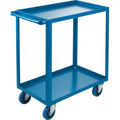 "Heavy-Duty Shelf Carts - 36"" Overall Height - Shelf Size: 24""W x 36""D - No. Shelves: 2"