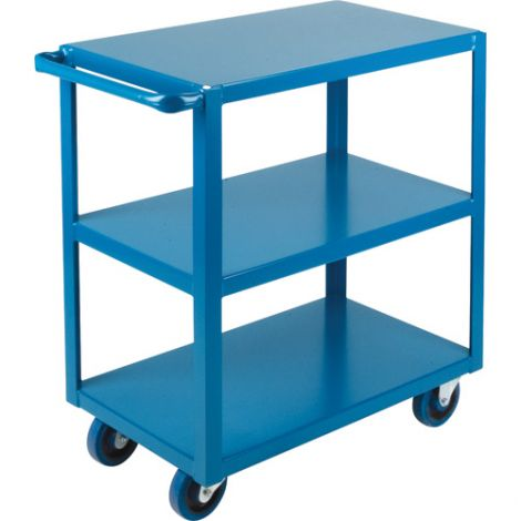 "Heavy-Duty Shelf Carts - 48"" Overall Height - Shelf Size: 18""W x 30""D - No. Shelves: 3"