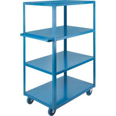 "Heavy-Duty Shelf Carts - 48"" Overall Height - Shelf Size: 24""W x 48""D - No. Shelves: 4"