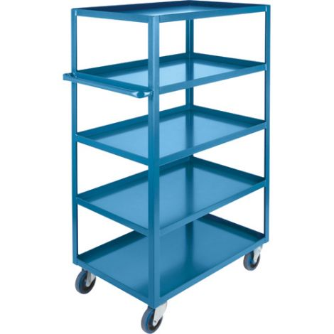 "Heavy-Duty Shelf Carts - 61"" Overall Height - Shelf Size: 24""W x 48""D - No. Shelves: 5"