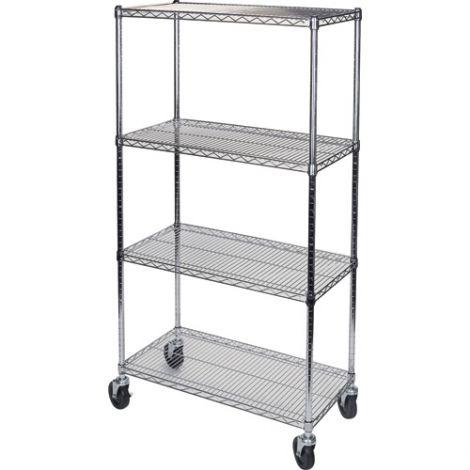"""Wire Shelf Carts - 24""""D x 48""""W x 74""""H"""