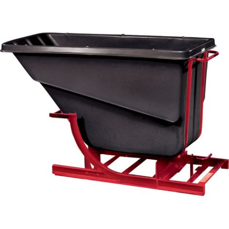 Polyethylene Self-Dumping Hoppers without Casters - Capacity: 2 cu.yd.