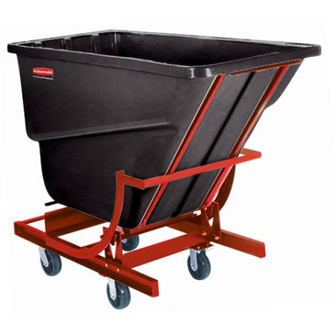 Polyethylene Self-Dumping Hoppers with Casters - Capacity: 2 cu.yd.