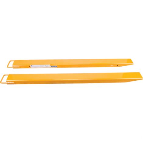 "Fork Extensions - Length: 96"" - Accommodates Fork Width: 4"" - Overall Width: 5"""