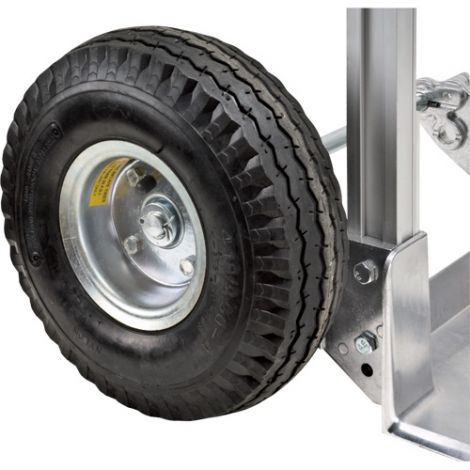 "Aluminum Hand Truck Replacement Wheel - Wheel Material: Pneumatic - Wheel Size: 10""H x 3""W"