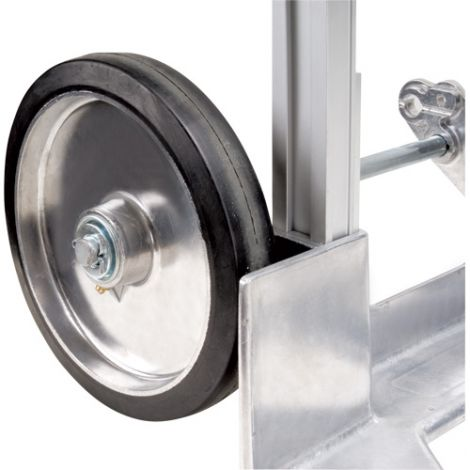 "Aluminum Hand Truck Replacement Wheel - Wheel Material: Mold on Rubber - Wheel Size: 8""H x 2""W"