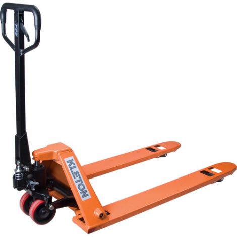 "Low Profile Hydraulic Pallet Truck - Lowered Height: 2.05"" - Raised Height: 5.5"""