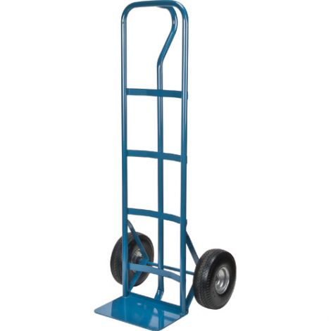 """Flat Free Wheel Hand Truck (Steel) - Handle Type: P-Handle - Nose Plate Dimension: 14""""W x 9""""D"""
