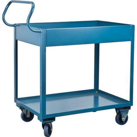 "Deep Lipped Service Cart - No. of Shelves: 2 - Clearance Between Shelves: 22.5"""