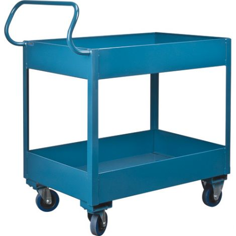 "Deep Lipped Service Cart - No. of Shelves: 2 - Clearance Between Shelves: 18"""