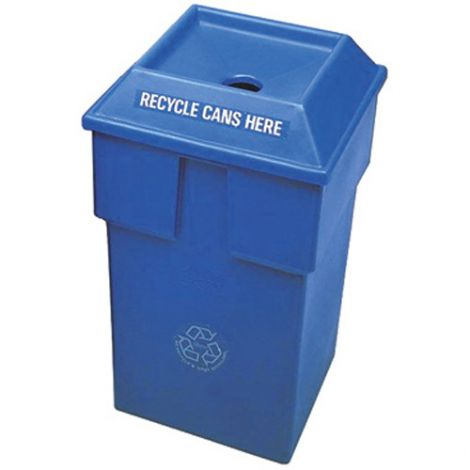 """Recycling Containers Bullseye™ - Opening: Round - 20-1/2""""L x 20-1/2""""W x 34""""H"""