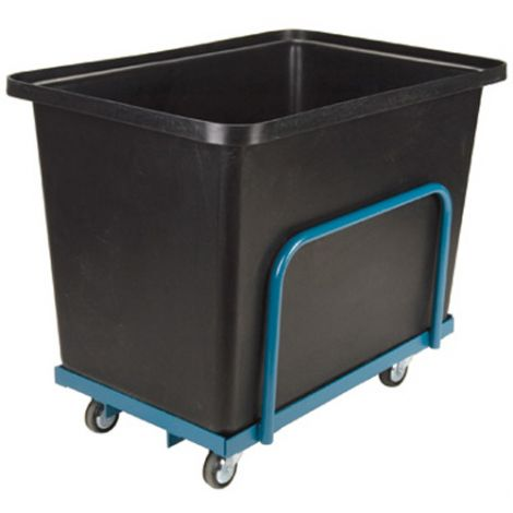 Tapered Wall Poly Box Truck - Capacity: 16 cu. ft. / 800 lbs. - Base Type: Steel Chassis