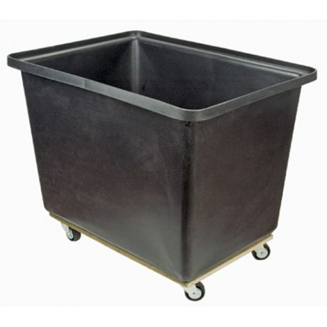 Tapered Wall Poly Box Truck - Capacity: 16 cu. ft./ 500 lbs. - Base Type: Plywood