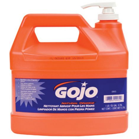 GOJO® Natural Orange™ Pumice Hand Cleaner - Type: Cream - Container Size: 3785.41 ml - Container Type: Jug - Qty/Case: 8