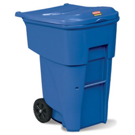 Brute® Roll Out Containers - Capacity: 95 US gal. - Blue
