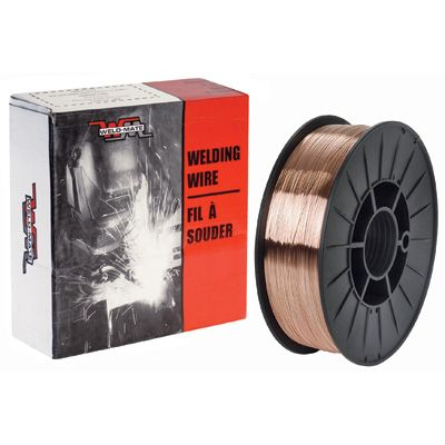 """ER70S6 Carbon Steel Welding Wire - Wire Diameter: 0.035"""" - Wire Material: Carbon Steel - Qty/Case: 2"""