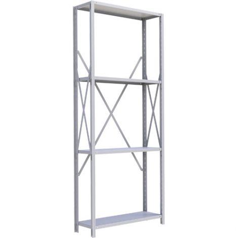 "Boltless Shelving Unit - Dimensions : 36""W x 18""D x 88""H - No. of Shelves: 4 - Kit Type: Starter Unit"