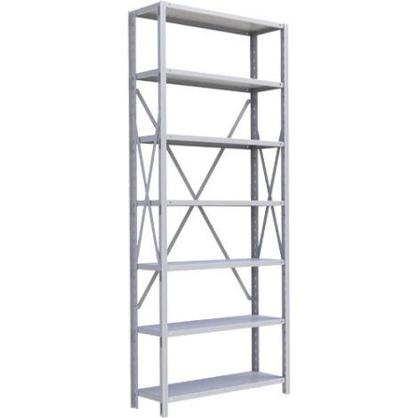 "Boltless Shelving Unit - Dimensions: 36""W x 18""D x 88""H - No. of Shelves: 7 - Kit Type: Starter Unit"