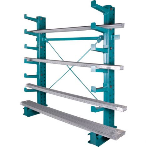 Cantilever Bar-Stock Racking - Regular-Duty - Kit Type: Starter - Capacity lbs/column: 14000 - Width: 36""