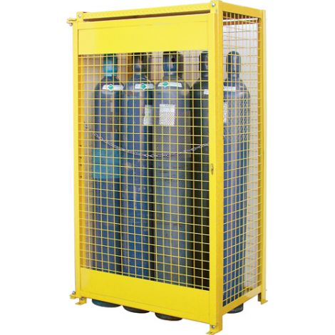 """Gas Cylinder Cabinets - Dimensions: 44""""W x 30""""D x 74""""H - Holds: Oxygen Gas (9"""" Diameter Cylinders)"""