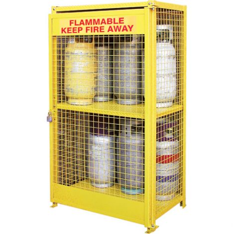 """Gas Cylinder Cabinets - Dimensions: 44""""W x 30""""D x 74""""H - Holds: Liquid Propane (35lbs. Cylinders)"""