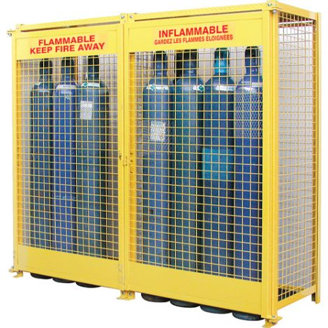"""Gas Cylinder Cabinets - Dimensions: 88""""W x 30""""D x 74""""H - Holds: Oxygen Gas (9"""" Diameter Cylinders)"""