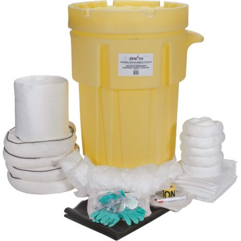 95-Gallon Industrial Mobile Spill Kits - Spill Type: Oil Only