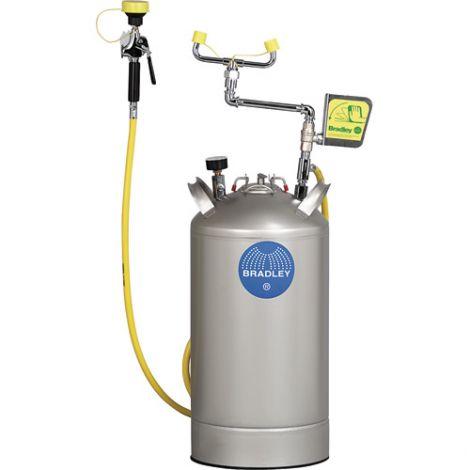 Portable Pressurised Eyewash Station - Type: Pressurized - Standard(s) Met: ANSI Z358.1 - Capacity: 10 gal.