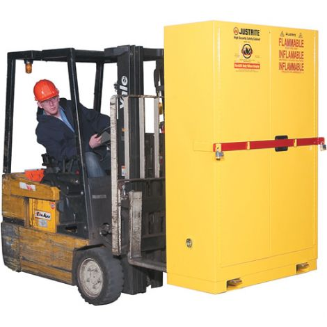 Sure-Grip® Ex High Security Flammable Safety Cabinets with Steel Bar - Capacity: 45 gal. - Door Type: Self-Closing