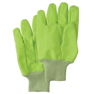 Poly/Cotton High Visibility Gloves - Size: Large - Case/Qty: 24