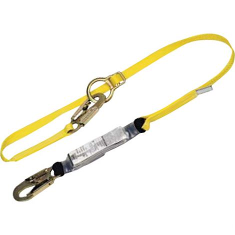 Workman™ Energy-Absorbing Lanyards - Number of Legs: 1 - Special Features: Tie Back - Length: 6'