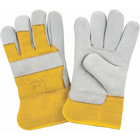 Split Cowhide Fitters Foam Fleece Lined Gloves - Size: Medium - Case Quantity: 24