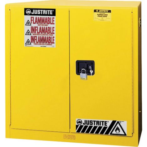 Sure-Grip® Ex Flammable Storage Cabinets - Capacity: 30 Gal. - No. of Doors: 1 - Door Type: Self-Closing