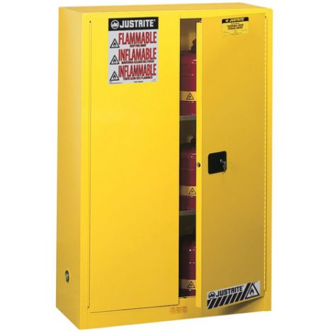 Sure-Grip® Ex Flammable Storage Cabinets - Capacity: 45 Gal. - No. of Doors: 2 - Door Type: Self-Closing