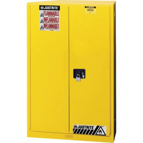 Sure-Grip® Ex Flammable Storage Cabinets - Capacity: 45 Gal. - No. of Doors: 1 - Door Type: Self-Closing