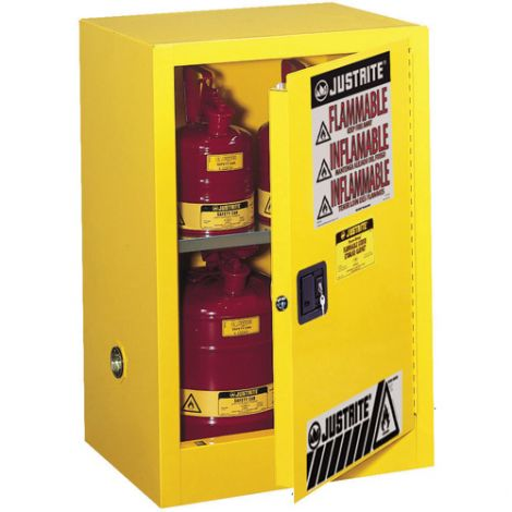 """Sure-Grip® EX Compac Flammable Safety Cabinet - Capacity: 15 gal.- Width: 23.25"""" - Depth: 18"""" - Height: 44"""""""