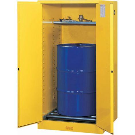Sure-Grip® EX Vertical Drum Storage Cabinets - No. of Drums: 1 -  Door Type: 2 Doors, Self-Close with drum rollers