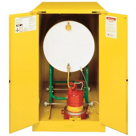 Sure-Grip® EX Horizontal Drum Storage Cabinets - No. of Drums: 1 - Door Type: 2 Doors, Self-Close