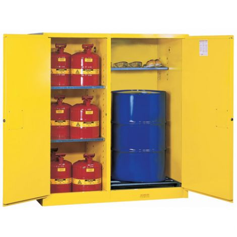 Sure-Grip® EX Double-Duty Safety Cabinets - No. of Drums: 13 - Self-Close w/Drum Rollers