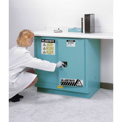 "Sure-Grip® Ex Acid/Corrosive Storage Cabinets - Capacity: 30 gal. - Width: 43"" - Depth: 18"" - Height: 44"""
