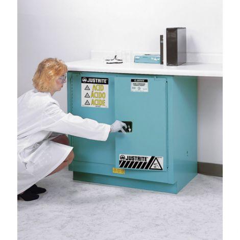 "Sure-Grip® Ex Acid/Corrosive Storage Cabinets - Capacity: 22 gal. - Width: 35"" - Depth: 22"" - Height: 35"""