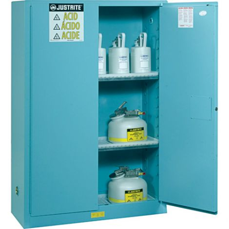 "Sure-Grip® Ex Acid/Corrosive Storage Cabinets - Capacity: 45 gal. - Width: 43"" - Depth: 18"" - Height: 65"""