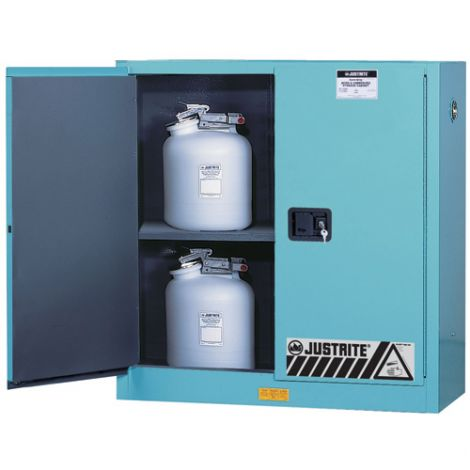 "ChemCor® Lined Acid/Corrosive Storage Cabinets - Capacity: 45 gal. - Width: 43"" - Depth: 18"" - Height: 65"""
