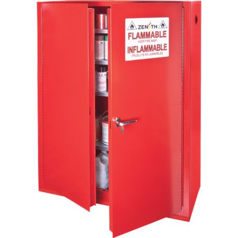 Paint/Ink Cabinet - Capacity: 60 gal. - Door Type: Manual